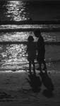 Day For Night - Children at the beach - 6751 - Photograph by H. David Stein
